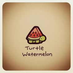 Turtle watermelon - Totally needs to exist one day. It already did in my dreams though! Cute Animal Drawings, Kawaii Drawings, Cool Drawings, Cute Turtle Drawings, Sheldon The Tiny Dinosaur, Turtle Love, Cute Turtles, Cute Doodles, Kawaii Doodles