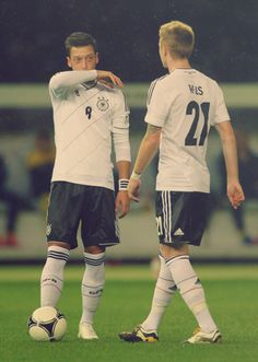 A contemplative moment: Mesut Özil and Marco Reus- this makes me happy :D:D:D:D