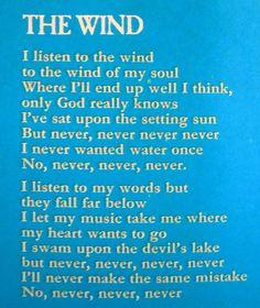 Cat Stevens - The wind.