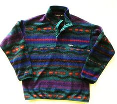 Details about Vintage Coumbia Aztec T Snap Fleece Pullover Mens XL Purple Teal southwestern - Fleece Shirt -ideas of Fleece Shirt - Vintage Patagonia. just want one so badd. Patagonia Outfit, Patagonia Fleece Pullover, Patagonia Jacket, Patagonia Pullover Vintage, Patagonia Brand, Mens Patagonia, Mode Vintage, My New Room, Outfits
