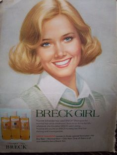 Remember when everyone wanted to be a Breck Girl?  1977-Breck-Girl-Hair-Shampoo-Yvonne-Schneider-Ralph-William-Willliams-Color-Ad