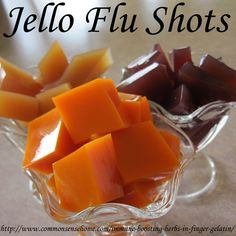 flu remedies Jello Flu Shots - Immune Boosting Herbs in Finger Gelatin @ Common Sense Homesteading - A kid-friendly way to get the power of immune boosting herbs in your diet. Flu Remedies, Herbal Remedies, Health Remedies, Natural Medicine, Herbal Medicine, Natural Living, Homemade Jello, Autogenic Training, Nutrition