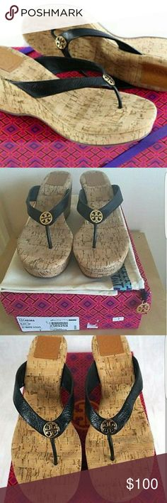 Tory Burch Wedges REPOSH! Bought and just a little to big. Not looking to profit just want what I paid. Excellent Used Condition! Original box and dust bag included. Tory Burch Shoes Sandals
