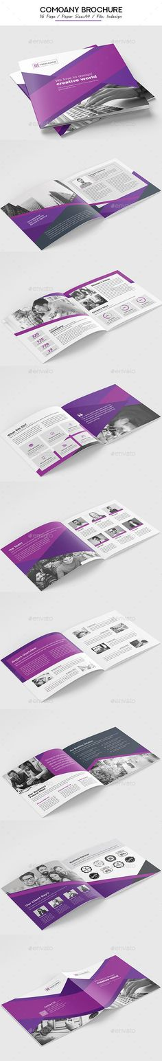 Brochure Template InDesign INDD - 16 Unique Pages A4