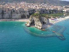 Tropea Beach, Italy. Gorgeous.