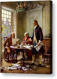 Writing The Declaration Of Independence Painting by War Is Hell Store - Writing The Declaration Of Independence Fine Art Prints and Posters for Sale