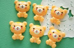 6 pcs Kawaii Cute Baby Tiger Cabochon (24mm27mm) DR593 by Candydecoholic on Etsy