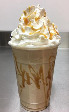 Dulce de Leche and other delicious frozen drinks from Ledbetter's Grand Fudge Shop in Converse, IN.