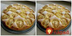 Výborný tip na jesenný koláčik, je úplne jednoduchý a akékoľvek ovocie naň použijete, výsledok bude výborný. Ja ho mám najradšej s jabĺčkami a škoricou. Thing 1, Apple Pie, Desserts, Food, Hampers, Tailgate Desserts, Meal, Dessert, Eten