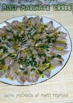 Alici marinate crude, ricetta siciliana, cucina preDiletta