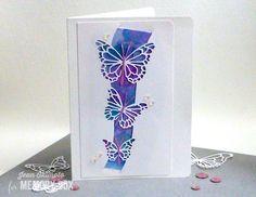 Memory Box Butterfly Swell,Memory Box Morning Garden Butterflies, Jean Okimoto, Watercolored Butterfly Cards, Butterfly Cards, Watercolored Cards