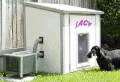 Unique Air-Condtioned Dog Houses, this is the way to go in this heat!