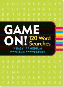 Game On! Word Searches Set. 3 books, 120 puzzles. 40 themed searches in each book. Difficulty: Easy to expert. John Samson is currently editor of Simon & Schuster's Mega Crosswords. His puzzles have appeared on cereal boxes, rock album covers, quilts, jigsaw puzzles, posters, buildings, in magazines, newspapers, and books.