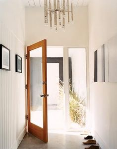 perfect stain for door, simple black and white entry