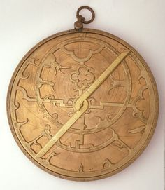 14th-century English astrolabe. The astrolabe is an astronomical calculating device. Many medieval examples survive in museums.