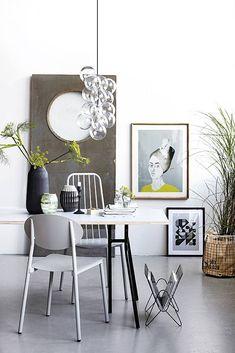 combinatie van verschillende stijlen in een interieur.