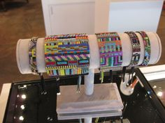 How perfect are these beaded bracelets by Southern California designer Julie Rofman?  Rofman, inspired by traditional Navajo design and the digital world of pixels, handmade these stunners from Japanese glass seed beads (ordered from one family in Japan).  These flew out of the store for gifts this holiday season – our next order is en route.  Check with us next week!  Prices range from $78 – $245.