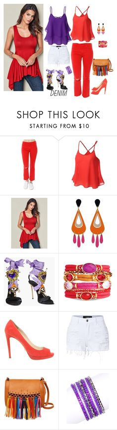 """""""Untitled #504"""" by amliw ❤ liked on Polyvore featuring Mother, Venus, Dsquared2, Prada, LE3NO, Shiraleah, Flint & Mortar and Doublju"""