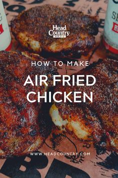 Quick and Easy Air Fried Chicken Thighs. Make these hot and spicy or stick to the original seasoning. Either way this is a healthier summer alternative to friend chicken! Best Bbq Recipes, Healthy Grilling Recipes, Healthy Tacos, Easy Dinner Recipes, Grilling Tips, Grilled Chicken Recipes, Fried Chicken, Head Country Bbq Sauce Recipe, Southern Recipes