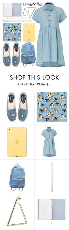 """""""hot hot dog"""" by foundlostme ❤ liked on Polyvore featuring Soludos, Apple, Maybelline, Jacquie Aiche and espadrilles"""