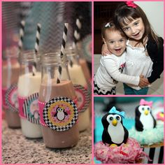 Pretty Penguin Party from Mimi's Dollhouse - www.prettymyparty.com #parties #penguinparty #desserts #desserttable