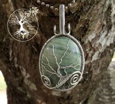 Tree of Life Pendant covering Banded Agate by TheSleepyFirefly