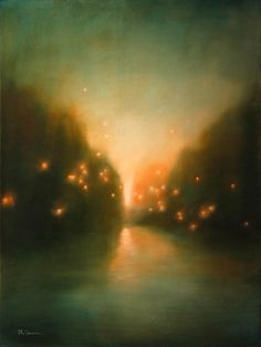 """Roi James, """"Luminous"""" I've seen this in my dreams. Abstract Landscape, Landscape Paintings, Abstract Art, Abstract Sculpture, Oil Paintings, Art Graphique, Imagines, Oeuvre D'art, Painting Inspiration"""