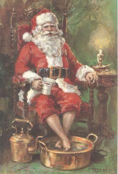 Santa has the right idea.