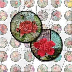 NEW Grunge Roses  Instant Download Printable by calicocollage, $4.15