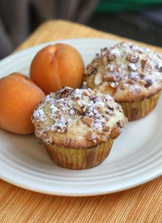 Apricot Muffins with a Topping of Crunchy Goodness