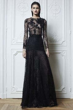 Black leather cocktail gown
