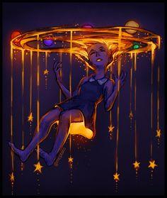 Twinkle, twinkle by mcptato on DeviantArt Pretty Art, Cute Art, Arte Digital Fantasy, Sad Art, Dark Fantasy Art, Art Inspo, Amazing Art, Art Reference, Character Art