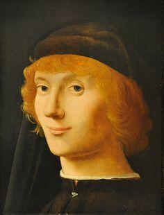 Portrait of a Young ManAntonello da Messina (Antonello di Giovanni d'Antonio) (Italian, Sicilian, born about 1430, died 1479)ca. 1470. MET, NYC