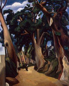 André Derain (Fr. 1880-1954), La Route de Castel-Gondolfo, vers 1921, huile sur toile, Saint-Pétersbourg, Musée de l'Ermitage