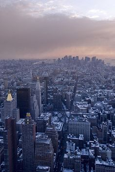 New York City from Above. Would like to go to New York someday, but it's pretty busy!
