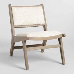 Ivory Tribal Jacquard Gunnar Chair - v1