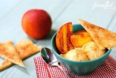 Grilled peach pie a la mode - from a farmgirl's dabbles...using Oregold® Peaches! Perfect summer dessert.