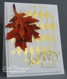 Loll's card for her friend. Details of how this striking card was made are on SCS as well as her blog.