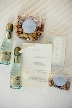 List Wedding Gifts Per Year : Wedding Gift Bags: Each bag contained 2 mini Italian Sparkling Wines ...