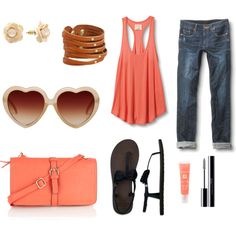 """""""Peachy keen (;"""" by courtneyannejackson on Polyvore"""