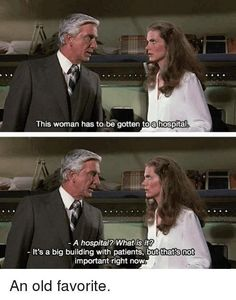 Airplane funny quote: A hospital? Funny Puns, Funny Movies, Great Movies, Funny Stuff, Funny Things, Hilarious, Airplane Movie Quotes, Airplane Humor, Funny Photos