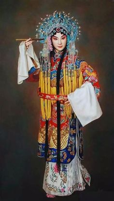 Chinese opera singer with costume
