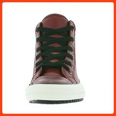da49091a8bd89 Converse All Star Chuck Taylor High Street Kids Leatherette Trainers Red  654309C