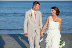 Tybee Island Wedding Photographer, Destination wedding photographer, Courtney J Photo, Beach Wedding, bride and groom, ocean view, portrait, in love