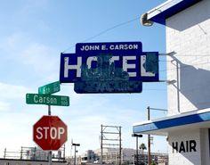 John E. Carson Motel in downtown Las Vegas, Nevada