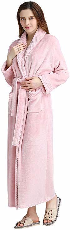 Womens Long Robe Soft Plush Plus Size Warm Comfy Bathrobe for Ladies Sleepwear Nightwear, Night Gown, Plus Size, Warm, Style Inspiration, Stylish, Plush, Shawl, Velvet