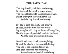 """Longfellow's """"The Rainy Day"""" teaches a good lesson, people."""