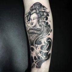 Em progresso.. #tattoo #tatuagem #oriental #gueisha #blackandgreytattoo #anapolis by brunotatt00 http://ift.tt/25ircdU