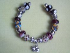 Handmade Beaded Bangle Bracelet  Also by eurojewelrybykim on Etsy, $20.00