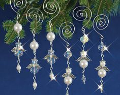 Navidad con cuentas de carámbanos Vintage por SOcreativejewelry